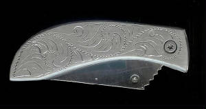 Engraved Scroll Replacement Knife!