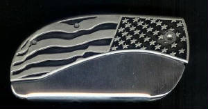 BLM Flag Plain Belt Buckle Knife!