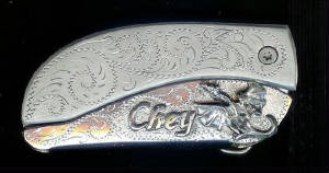 All New Add Sterling Silver & Initials To Your Belt Buckle Knife! Create Your Buckle Just How You Like It!
