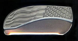 Flag Plain Belt Buckle Knife!
